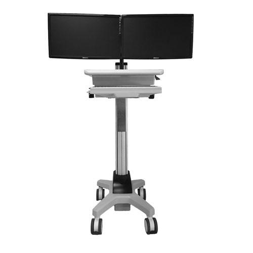 Dual Monitor Mobile Cart Series, CND03 (손잡이 및 PC Holder별매)